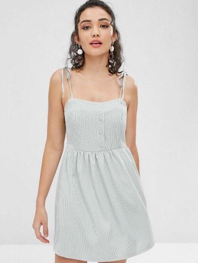 d269c72d465 Tie Shoulder Gingham Cami Dress - Power Day Sale
