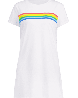 Colorful Stripes Tee Dress