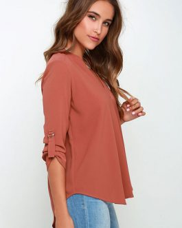 Deep-V Acetate Draping T-shirt