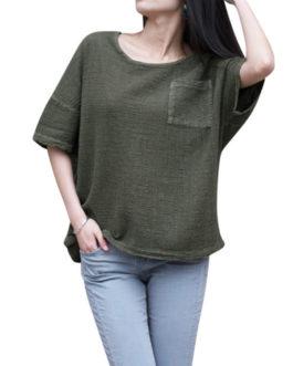 Half Sleeve Pocket Blouse