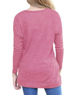 Round Neck Long Sleeve Shaping T Shirt