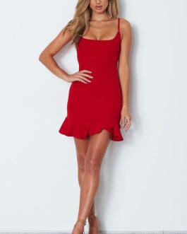 Summer Ruffles Sexy Spaghetti Strap Dresses