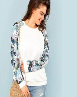 Tropical Print Sweatshirts Autumn
