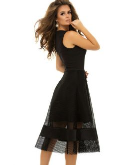 Black Long Dress V Neck Cocktail Sleeveless Sexy Party Dress