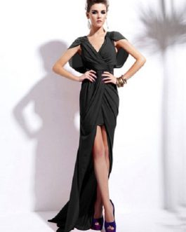 Split Front Floor-Length Dress High-Low Party Dress