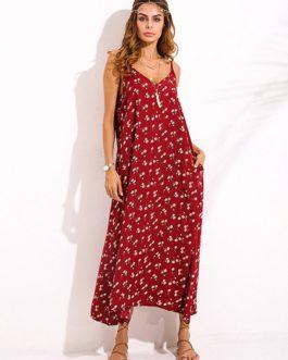 Bohemian Floral Printed Maxi Dresses