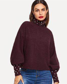 Casual Long Sleeve Minimalist Women Autumn Elegant Sweatshirts
