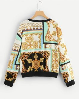 Casual Round Neck Long Sleeve Pullover Tops Women 2019 Spring Sweatshirts