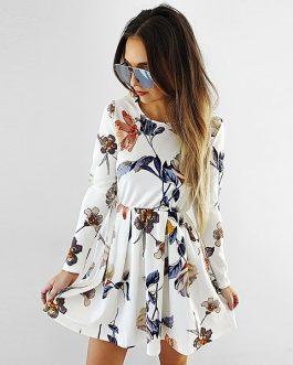 Fashion Floral Spring Mini Dress