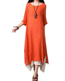 Layered Split Women Dresses