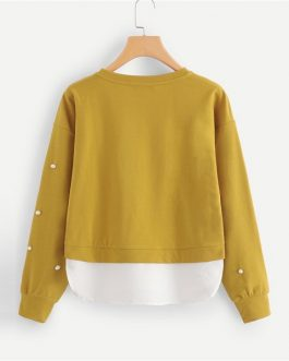 Long Sleeve Elegant Pullovers Women Sweatshirts