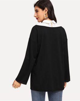 Long Sleeve Sweatshirt Autumn Elegant Highstreet Women Sweatshirts