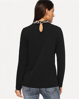 Long Sleeve Sweatshirt Autumn Workwear Casual Women Sweatshirts
