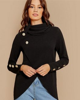 Long Sleeve Sweatshirts Plain Women Autumn Pullovers