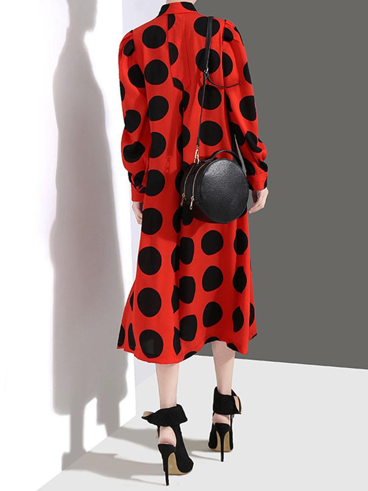 Long sleeved Turn Down Collar Dresses2