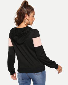 Minimalist Pullovers Sweatshirt Autumn Preppy Women Sweatshirts
