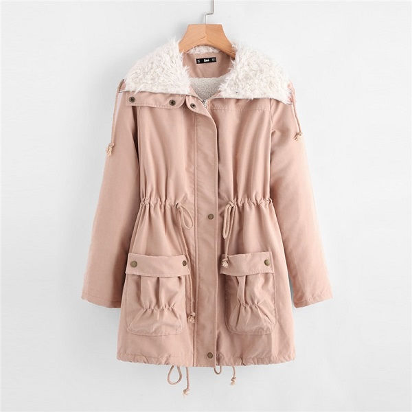 9644bfc941 ... Pink Fleece Lined Preppy Zipper Women Winter Coat. Sale! Previous  Product · Next Product. 🔍. $127.00 $86.00