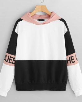 Pullovers Hooded Sweatshirt 2018 Autumn Minimalist Women Sweatshirts