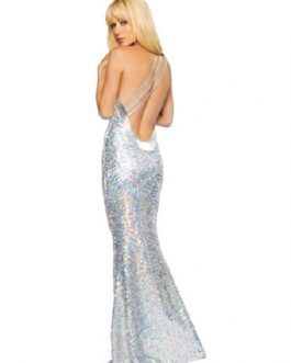 Sequin Party Dress Going Out Dress Women One Shoulder Backless Mermaid Club Dress