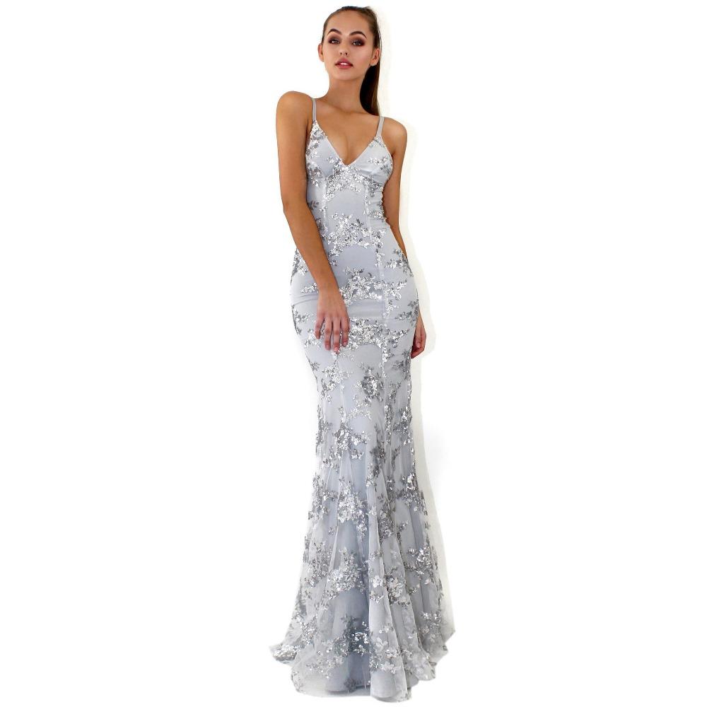 Sexy Party Dress Sleeveless Straps Glitter Sequins Backless Long Dress Women Maxi Dress 11