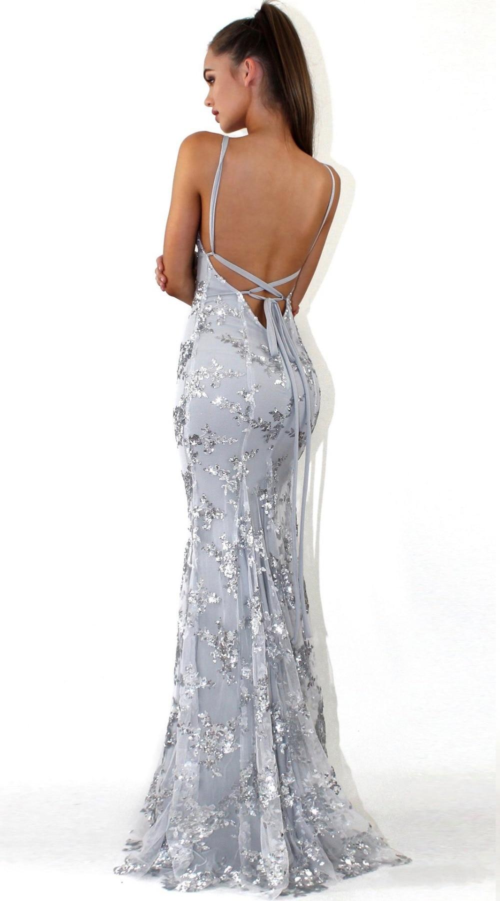 Sexy Party Dress Sleeveless Straps Glitter Sequins Backless Long Dress Women Maxi Dress 12