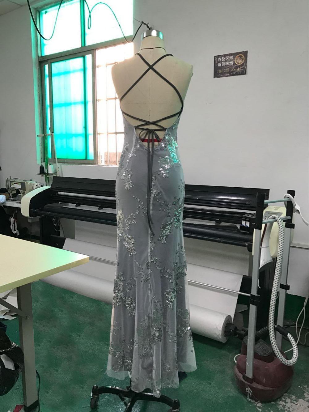 Sexy Party Dress Sleeveless Straps Glitter Sequins Backless Long Dress Women Maxi Dress 14