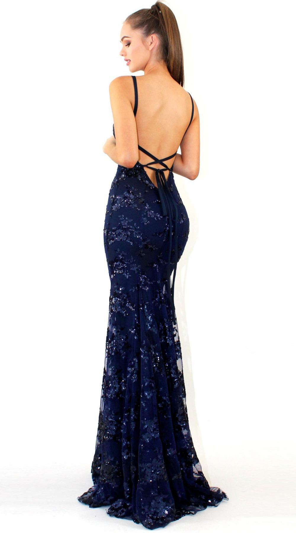 Sexy Party Dress Sleeveless Straps Glitter Sequins Backless Long Dress Women Maxi Dress 5