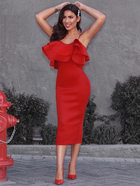 Red Semi Formal Dresses Women