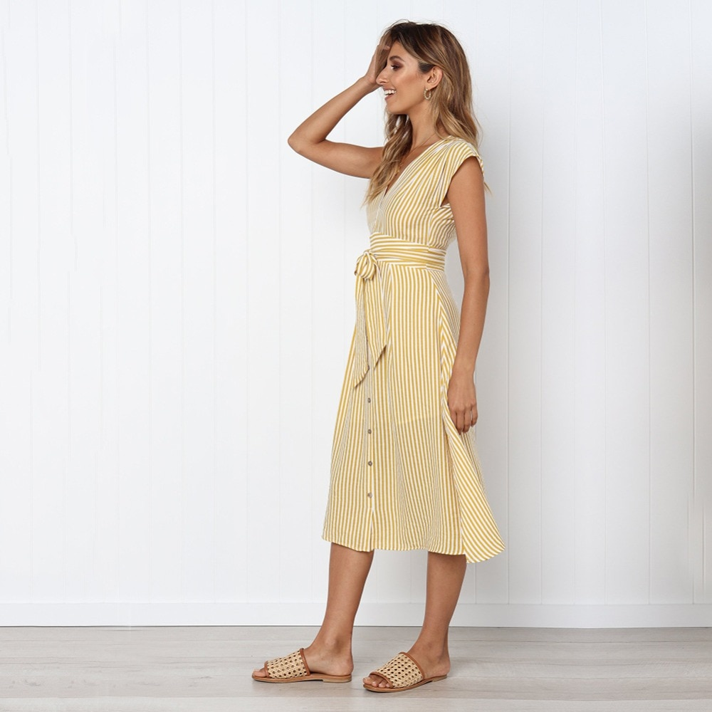 Sexy Striped Spring Elegant Casual Dress 12
