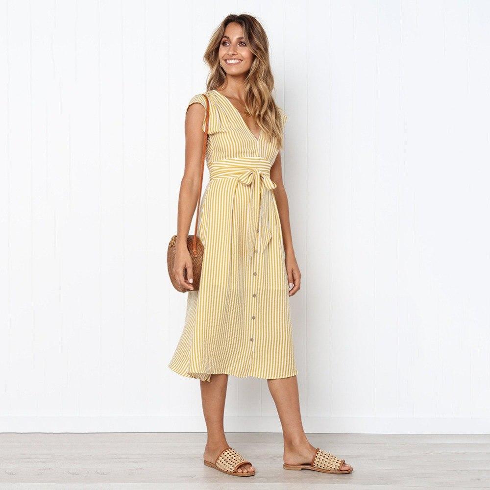 Sexy Striped Spring Elegant Casual Dress 13
