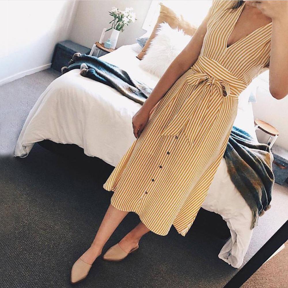 Sexy Striped Spring Elegant Casual Dress 14