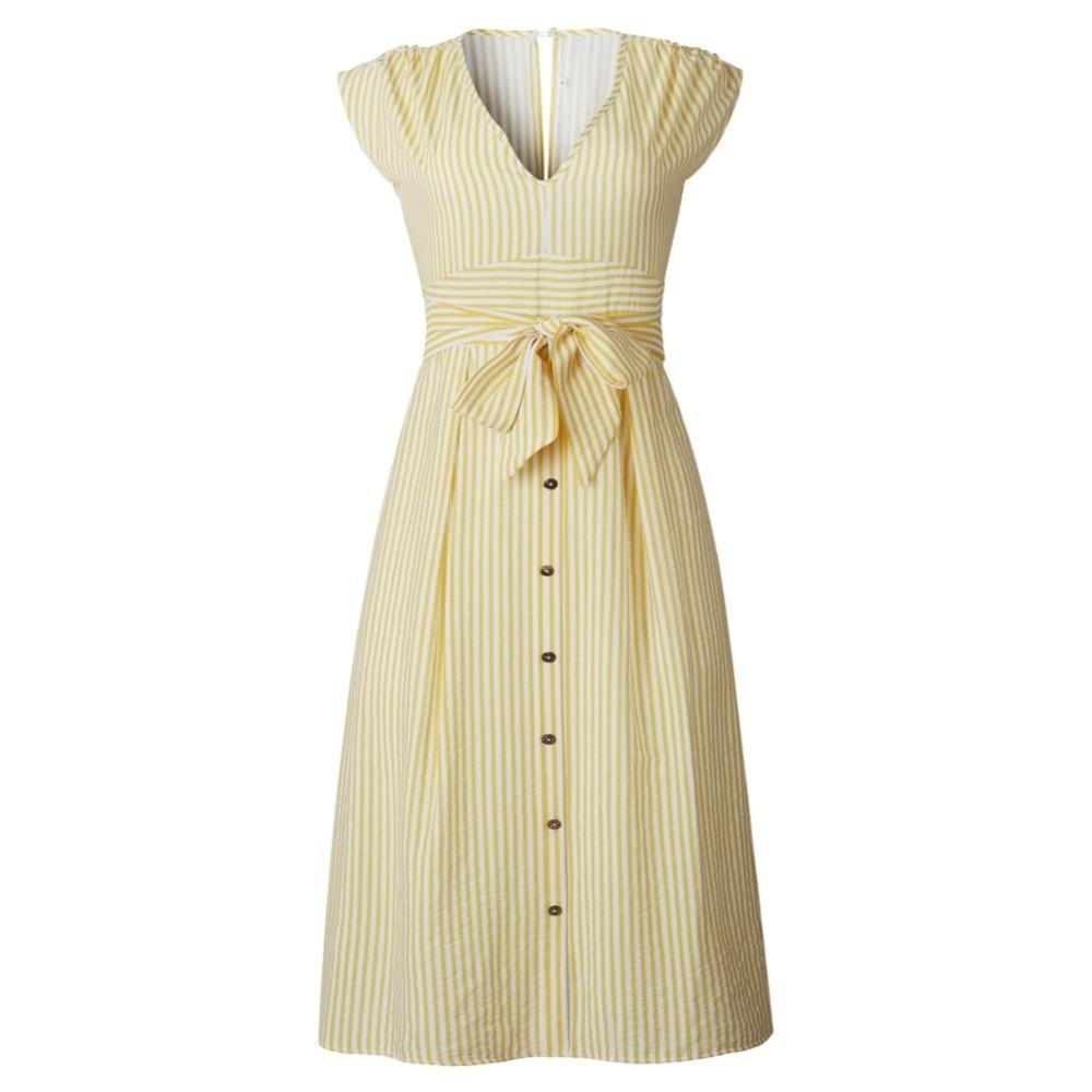 Sexy Striped Spring Elegant Casual Dress 15