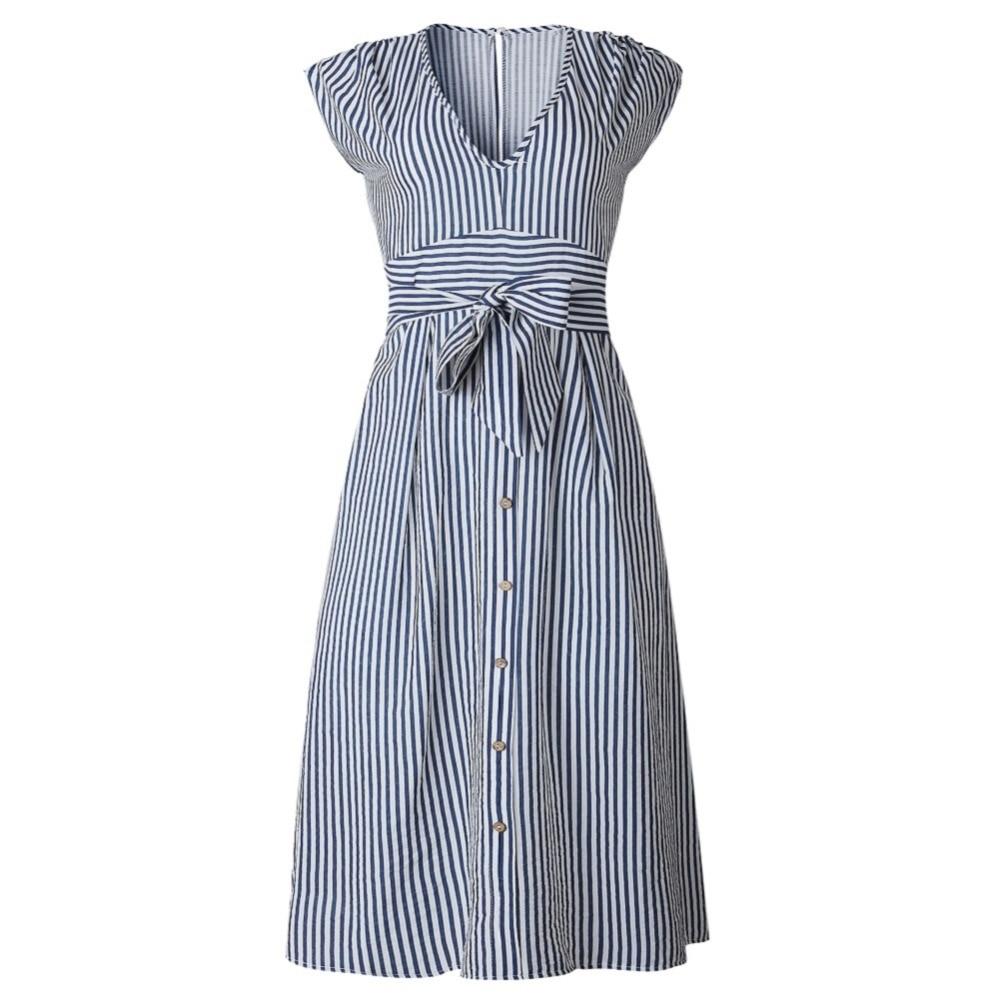 Sexy Striped Spring Elegant Casual Dress 18