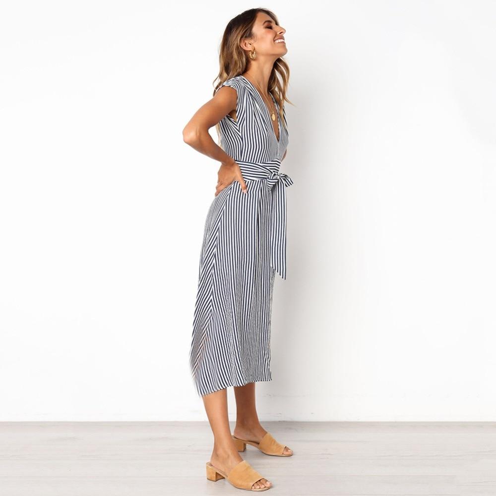 Sexy Striped Spring Elegant Casual Dress 4