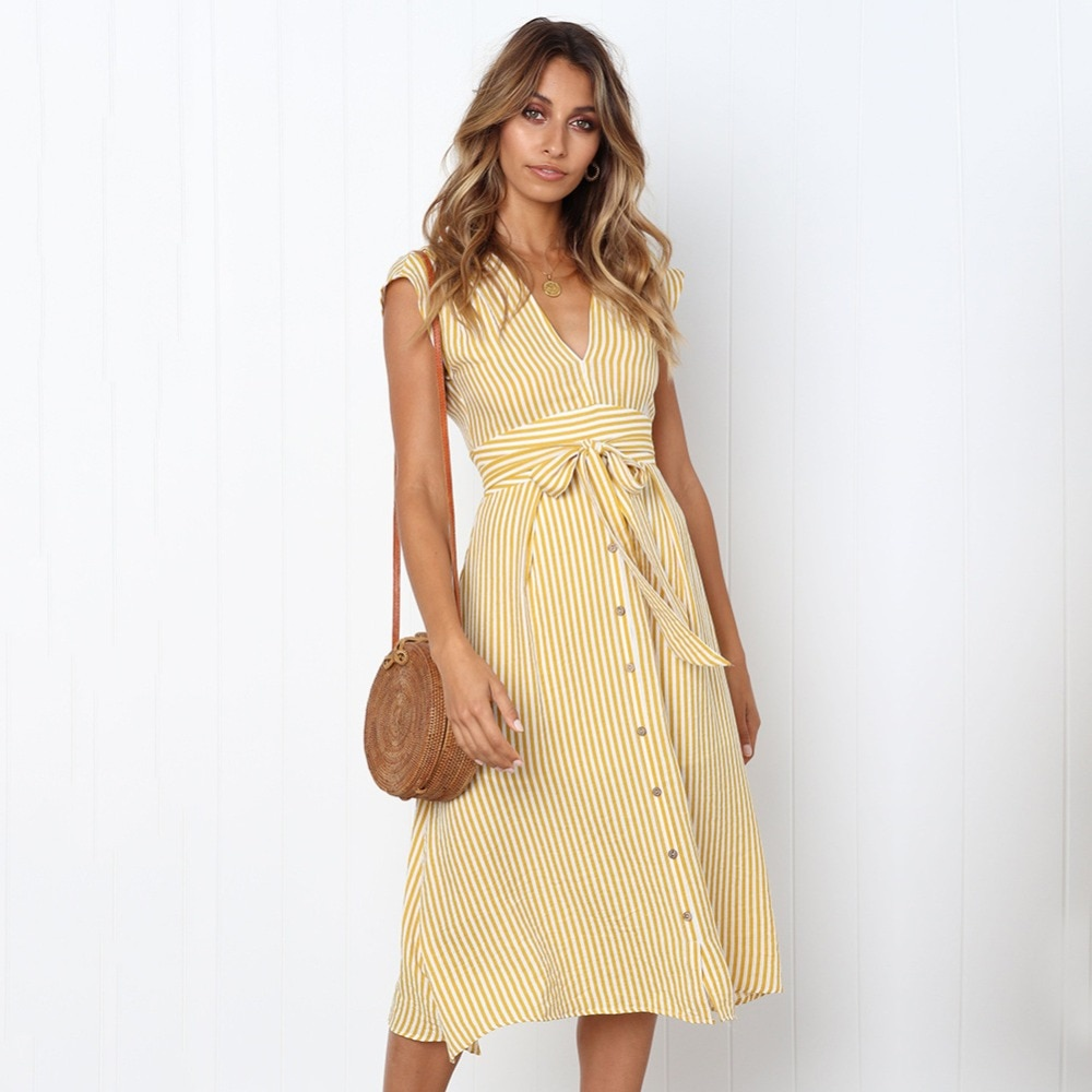 Sexy Striped Spring Elegant Casual Dress 8