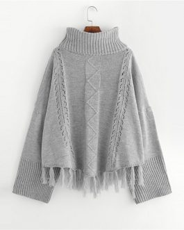 Solid Pullovers Jumper Autumn Casual Elegant Women Sweaters