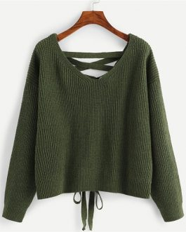 Solid Sweater 2018 Autumn Sexy Women Pullovers Sweats