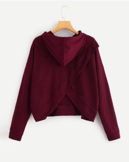 Solid Sweatshirt Autumn Casual Minimalist Women Sweatshirts