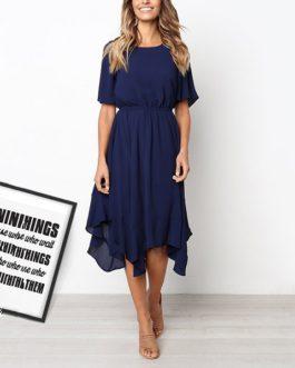 Spring Midi Swing Shirt Casual Fashion Dresses