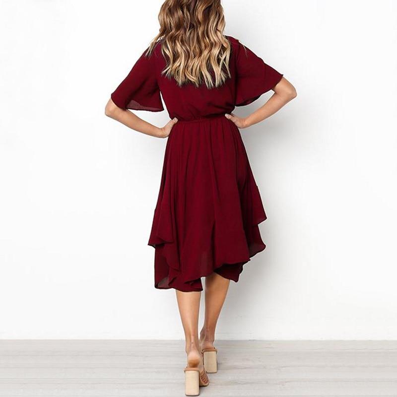 Spring Midi Swing Shirt Casual Fashion Dresses 10