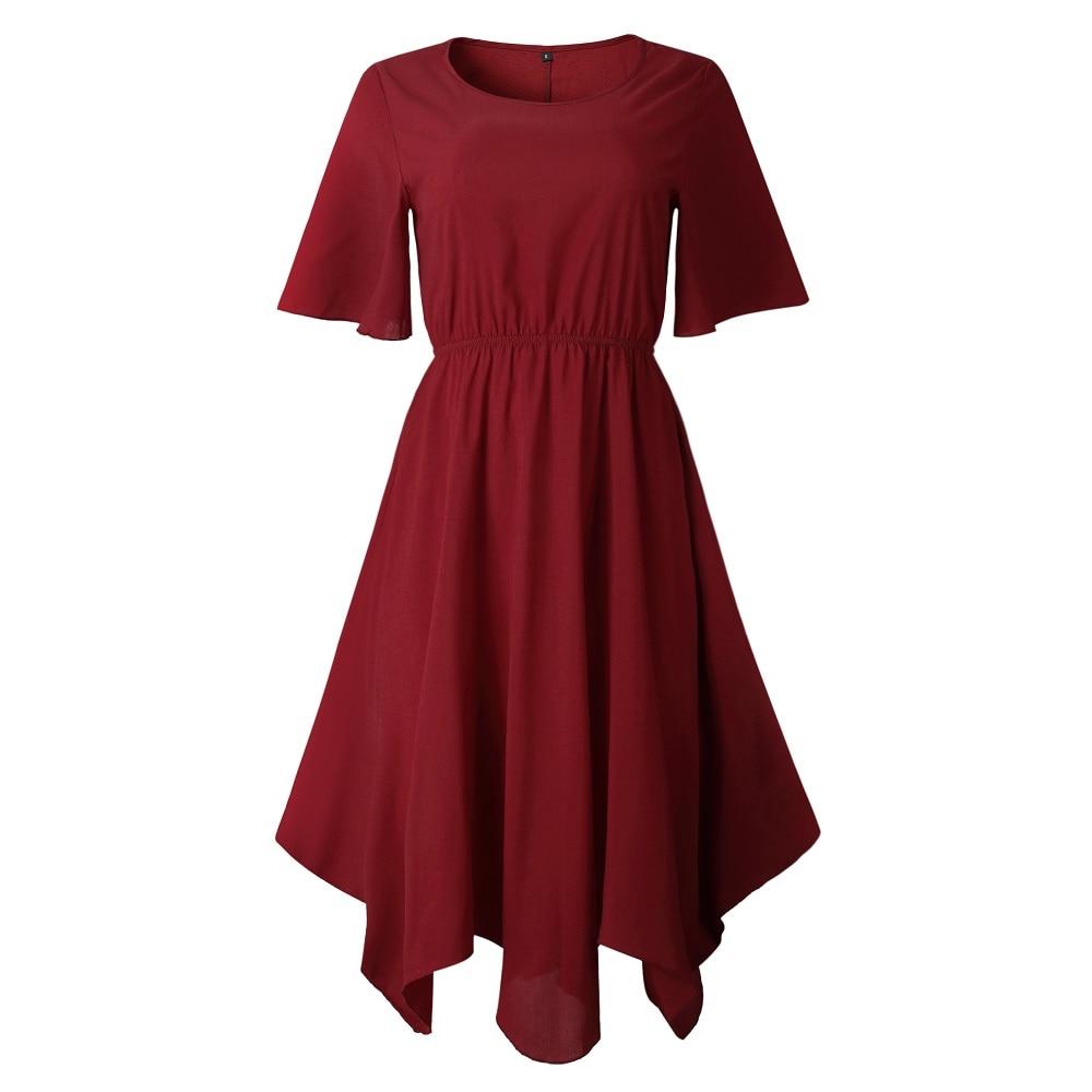 Spring Midi Swing Shirt Casual Fashion Dresses 11