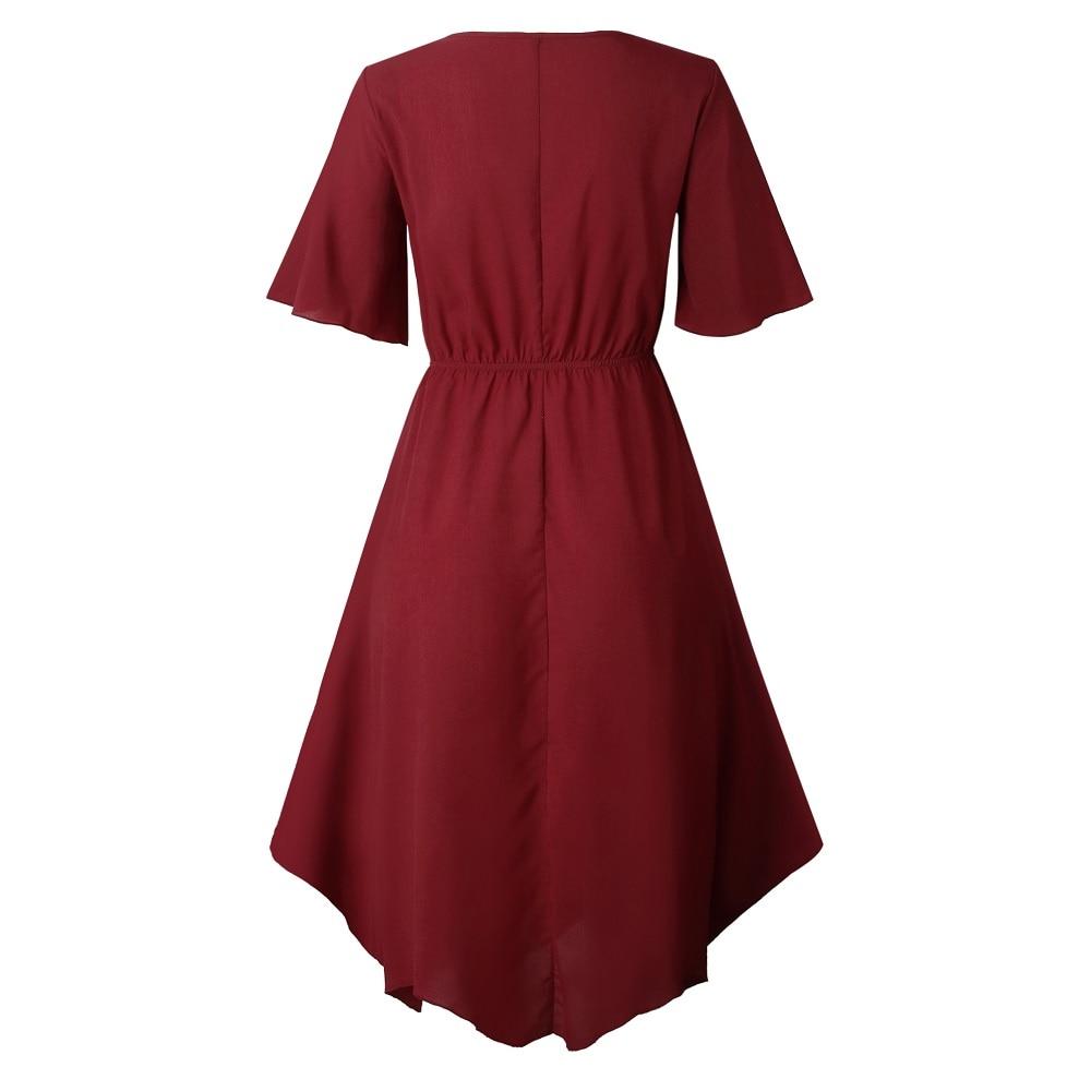 Spring Midi Swing Shirt Casual Fashion Dresses 12