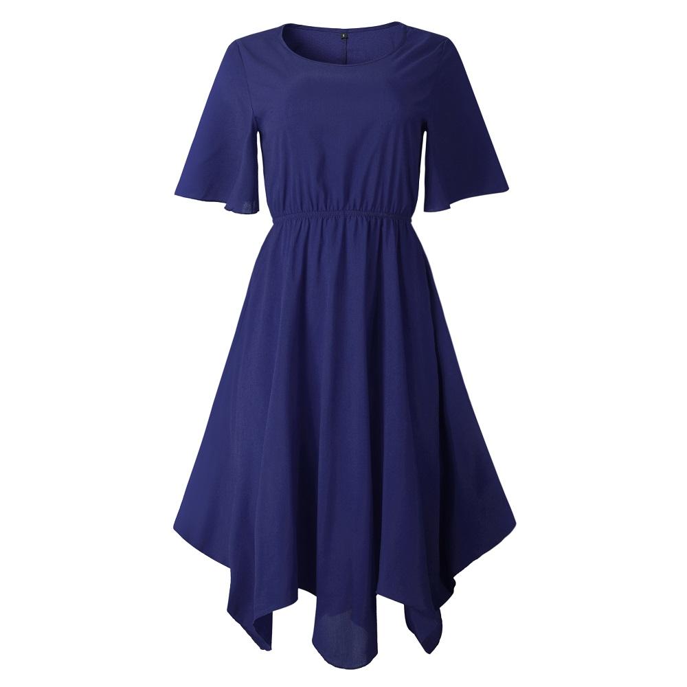 Spring Midi Swing Shirt Casual Fashion Dresses 14