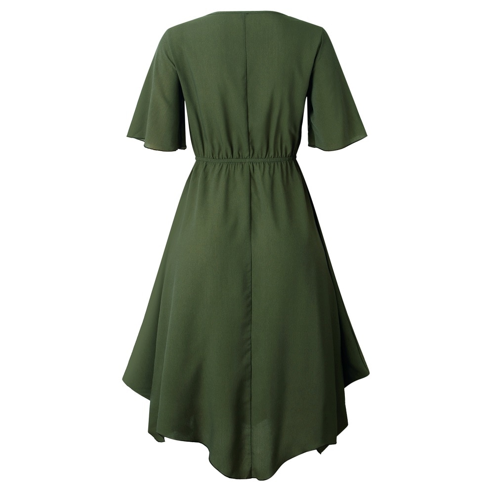 Spring Midi Swing Shirt Casual Fashion Dresses 17