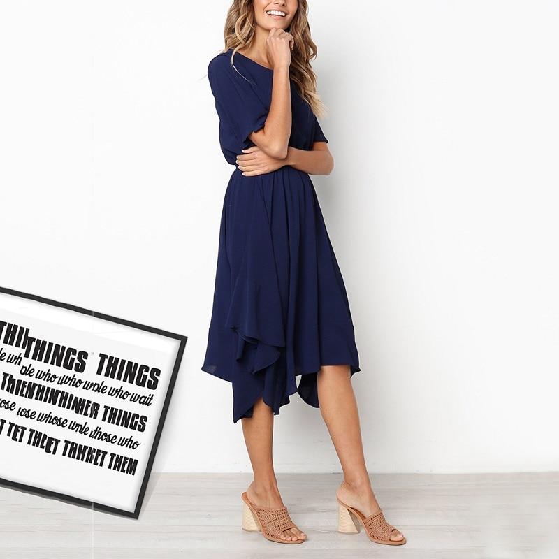Spring Midi Swing Shirt Casual Fashion Dresses 2
