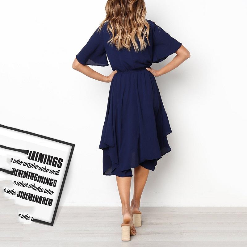 Spring Midi Swing Shirt Casual Fashion Dresses 4