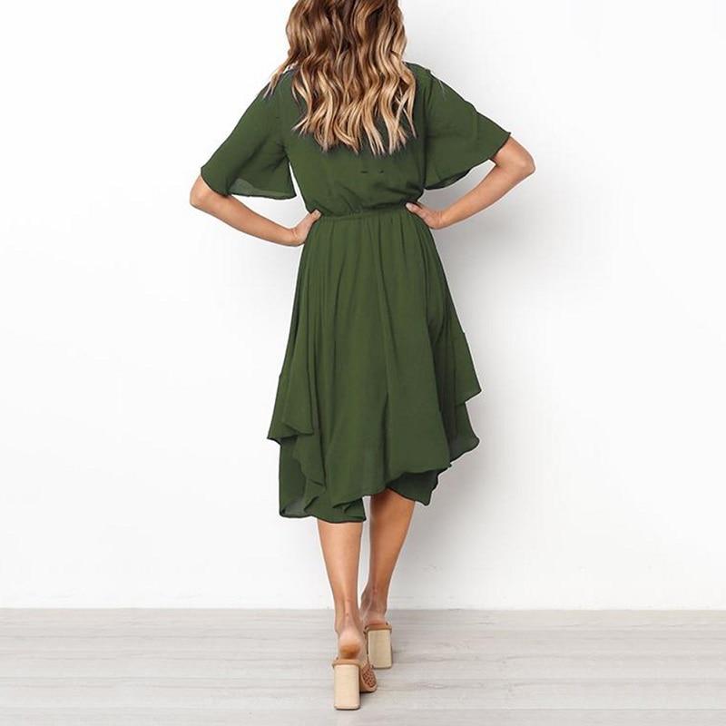 Spring Midi Swing Shirt Casual Fashion Dresses 7
