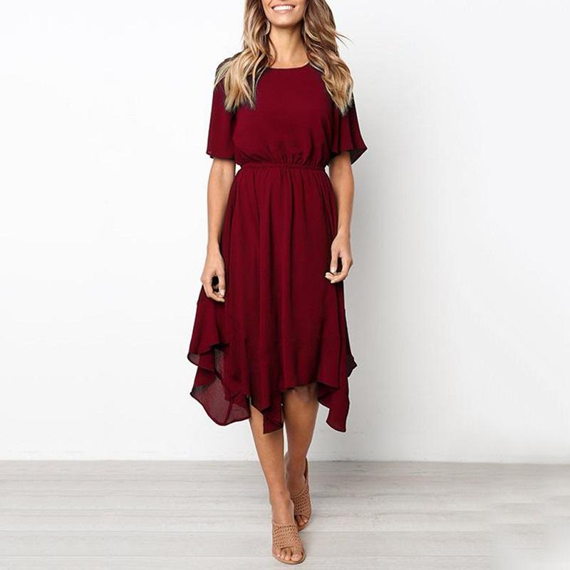 Spring Midi Swing Shirt Casual Fashion Dresses 8