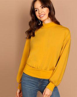 Sweatshirt Women 2018 Streetwear Autumn Elegant Plain Minimalist Sweatshirts