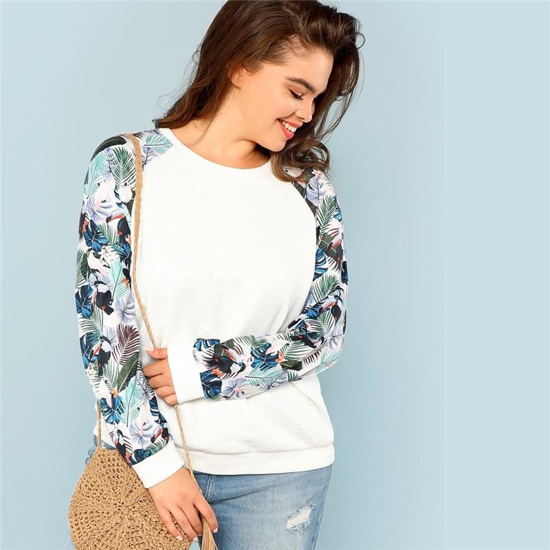 Tropical Print Sweatshirts Autumn 1 1